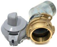 Filling socket DN 50 45° stainless steel