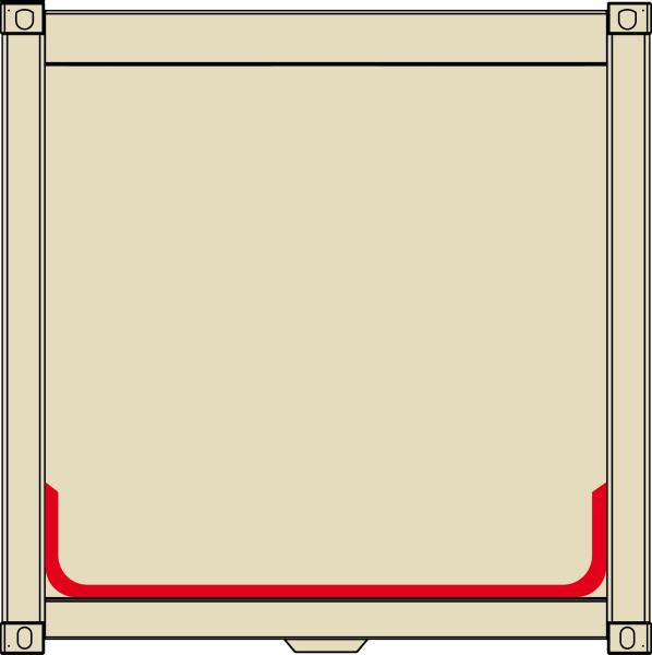 1 m² Coating inside - bottom tray - for oily mediums