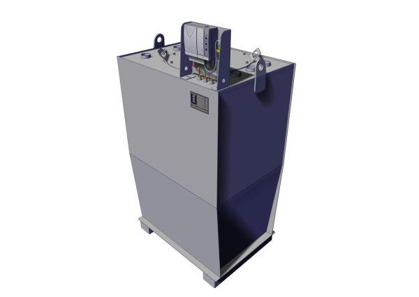 Storage tank double-walled, 950 L, diesel, heating oil, bio-diesel