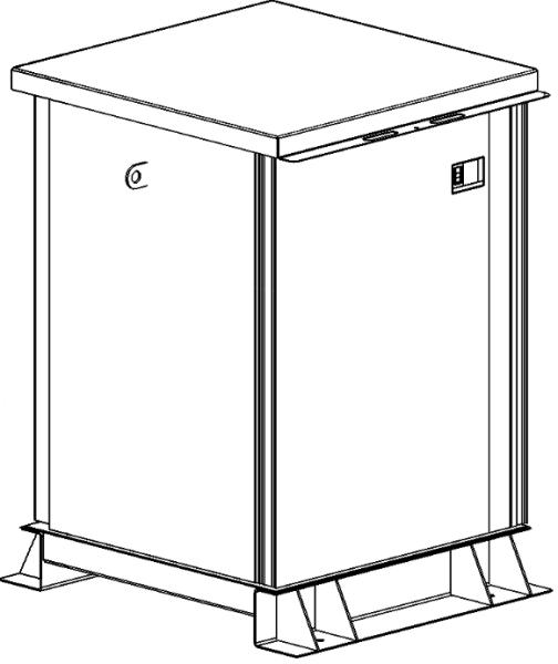 Storage tank double-walled (1.000 ltr.) Urea Variant E