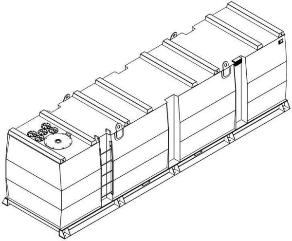 Storage tank double-walled (30.000 ltr.) Urea Variant E