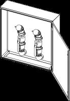 Befüll- und Entsorgungsschrank 760x760x300