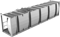 Lagertank doppelwandig 30ft, Stapel oben, [Bio-]Ethanol