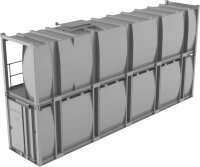 Lagertank doppelwandig 40ft, 2er-Stapel, Diesel